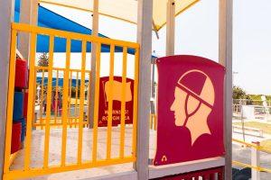 lifesaving themed playground.