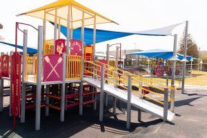 ramp up to playground.